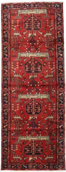 Hamadan Teppe 105X284 Ekte Orientalsk Håndknyttet Teppeløpere Mørk Rød/Rust (Ull, Persia/Iran)