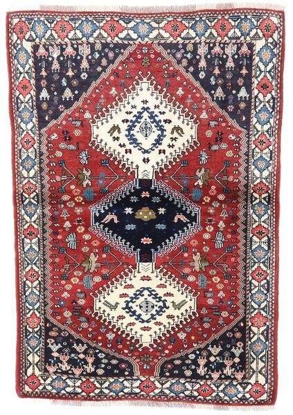 Yalameh Teppe 99X144 Ekte Orientalsk Håndknyttet Mørk Grå/Lys Grå (Ull, Persia/Iran)