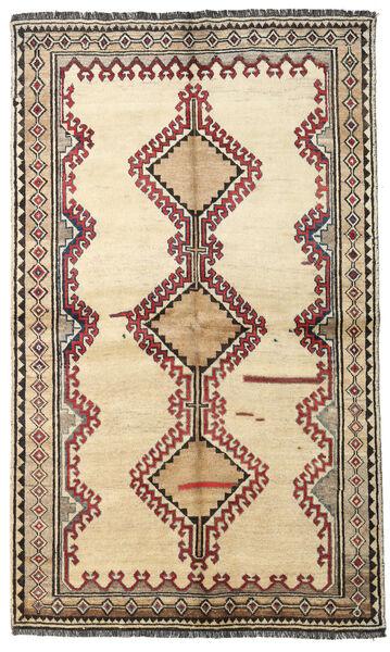 Shiraz Teppe 131X220 Ekte Orientalsk Håndknyttet Beige/Lysbrun (Ull, Persia/Iran)