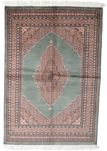 Pakistan Bokhara 3Ply Teppe 143X208 Ekte Orientalsk Håndknyttet Mørk Grå/Hvit/Creme (Ull, Pakistan)