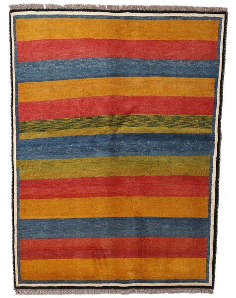Gabbeh Rustic Teppe 147X195 Ekte Moderne Håndknyttet Lysbrun/Mørk Blå (Ull, Persia/Iran)