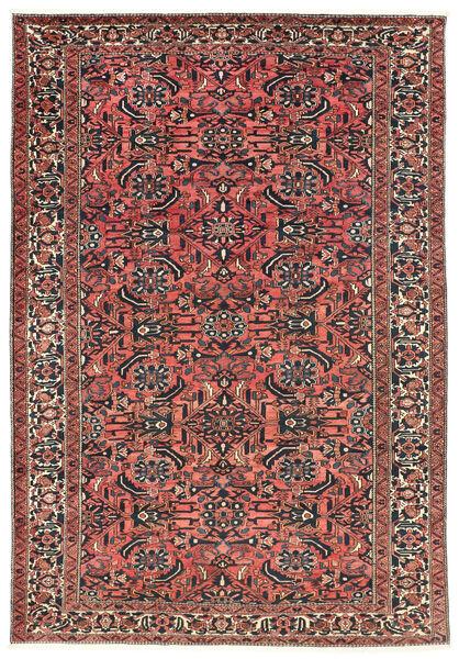 Bakhtiar Teppe 220X311 Ekte Orientalsk Håndknyttet Mørk Rød/Svart (Ull, Persia/Iran)