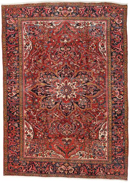 Heriz Teppe 270X376 Ekte Orientalsk Håndknyttet Mørk Rød/Rust Stort (Ull, Persia/Iran)