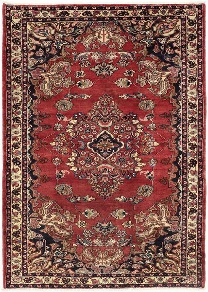 Kurdi Teppe 218X310 Ekte Orientalsk Håndknyttet Mørk Rød/Mørk Brun (Ull, Persia/Iran)