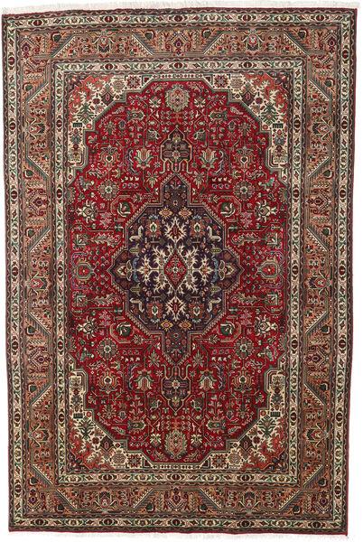 Tabriz Teppe 193X290 Ekte Orientalsk Håndknyttet Mørk Brun/Mørk Rød (Ull, Persia/Iran)