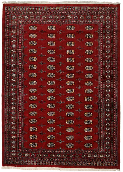 Pakistan Bokhara 2Ply Teppe 217X300 Ekte Orientalsk Håndknyttet Rød/Mørk Rød/Mørk Brun (Ull, Pakistan)