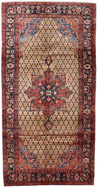 Koliai Teppe 151X294 Ekte Orientalsk Håndknyttet Teppeløpere Mørk Brun/Mørk Rød (Ull, Persia/Iran)