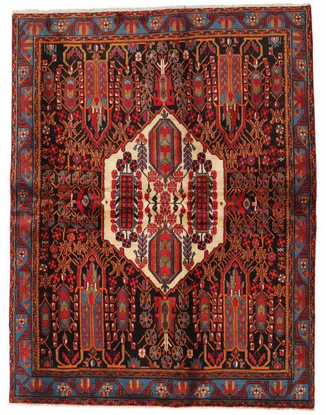 Afshar Teppe 168X217 Ekte Orientalsk Håndknyttet Mørk Rød/Svart (Ull, Persia/Iran)