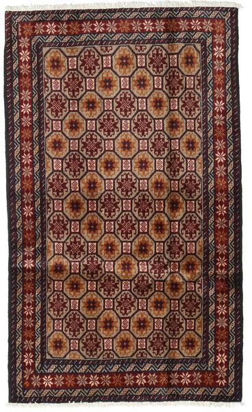 Beluch Teppe 98X164 Ekte Orientalsk Håndknyttet Mørk Rød/Brun (Ull, Persia/Iran)