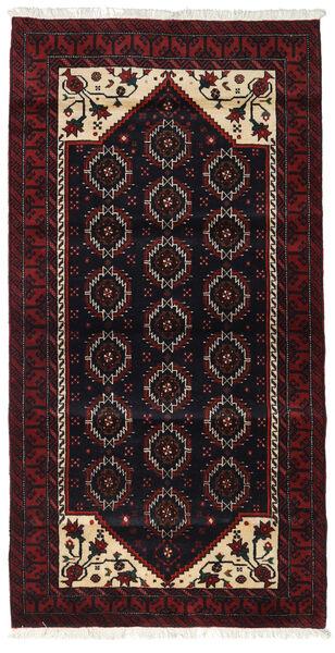 Beluch Teppe 98X191 Ekte Orientalsk Håndknyttet Mørk Rød (Ull, Persia/Iran)