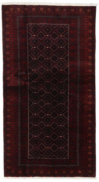 Beluch Teppe 105X193 Ekte Orientalsk Håndknyttet Mørk Rød (Ull, Persia/Iran)