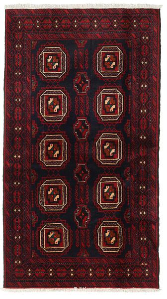 Beluch Teppe 103X183 Ekte Orientalsk Håndknyttet Mørk Rød (Ull, Persia/Iran)