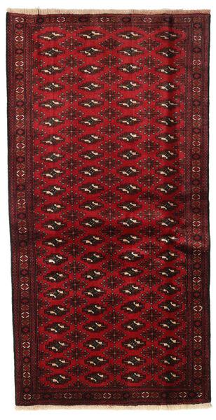 Beluch Teppe 100X194 Ekte Orientalsk Håndknyttet Mørk Rød/Rød (Ull, Persia/Iran)