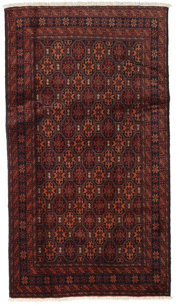 Beluch Teppe 96X172 Ekte Orientalsk Håndknyttet Mørk Rød/Mørk Brun (Ull, Persia/Iran)