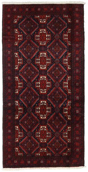 Beluch Teppe 91X185 Ekte Orientalsk Håndknyttet Teppeløpere Mørk Rød (Ull, Persia/Iran)