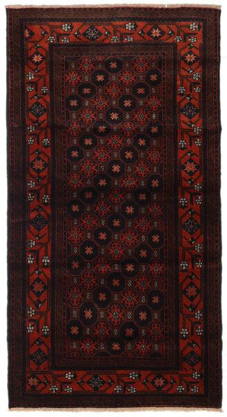 Beluch Teppe 97X183 Ekte Orientalsk Håndknyttet Mørk Brun/Mørk Rød (Ull, Persia/Iran)