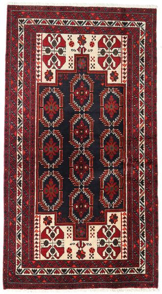 Beluch Teppe 105X195 Ekte Orientalsk Håndknyttet Mørk Rød (Ull, Persia/Iran)