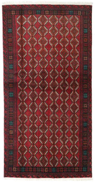 Beluch Teppe 98X190 Ekte Orientalsk Håndknyttet Mørk Rød/Mørk Brun (Ull, Persia/Iran)