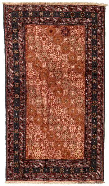 Beluch Teppe 100X172 Ekte Orientalsk Håndknyttet Rød/Svart (Ull, Persia/Iran)