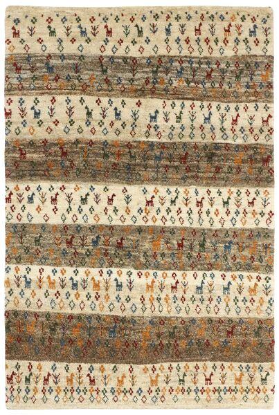 Gabbeh Persia Teppe 120X179 Ekte Moderne Håndknyttet Lysbrun/Mørk Beige (Ull, Persia/Iran)