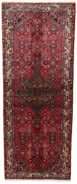 Asadabad Teppe 80X202 Ekte Orientalsk Håndknyttet Teppeløpere Mørk Rød/Brun (Ull, Persia/Iran)