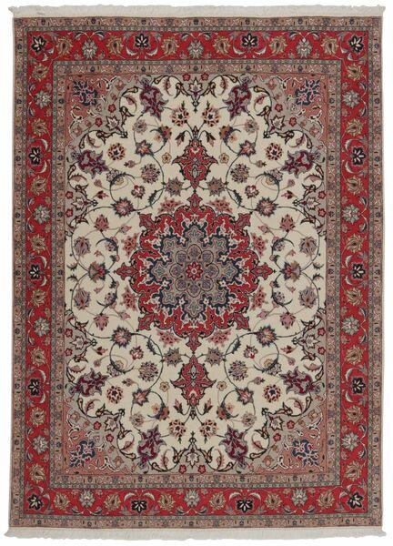 Tabriz 50 Raj Teppe 151X204 Ekte Orientalsk Håndvevd Mørk Rød/Lys Grå (Ull/Silke, Persia/Iran)