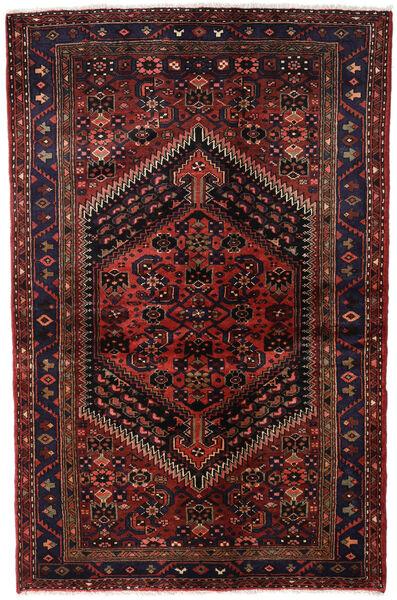 Hamadan Teppe 135X203 Ekte Orientalsk Håndknyttet Mørk Rød (Ull, Persia/Iran)