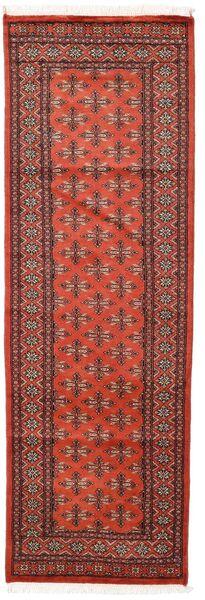 Pakistan Bokhara 2Ply Teppe 76X236 Ekte Orientalsk Håndknyttet Teppeløpere Mørk Rød/Rust (Ull, Pakistan)