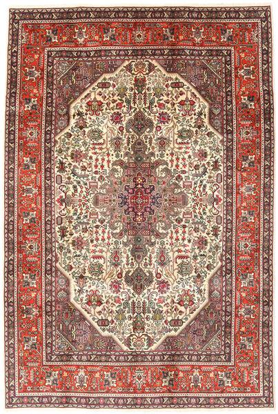 Tabriz Teppe 194X288 Ekte Orientalsk Håndknyttet Mørk Brun/Lysbrun (Ull, Persia/Iran)