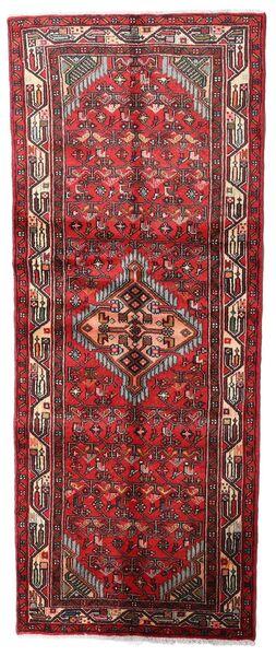 Asadabad Teppe 74X185 Ekte Orientalsk Håndknyttet Teppeløpere Mørk Rød/Brun (Ull, Persia/Iran)
