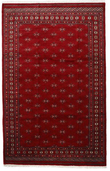 Pakistan Bokhara 3Ply Teppe 201X315 Ekte Orientalsk Håndknyttet Rød/Mørk Rød (Ull, Pakistan)