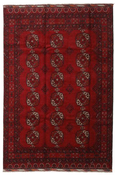 Afghan Teppe 196X291 Ekte Orientalsk Håndknyttet Mørk Rød/Rød (Ull, Afghanistan)