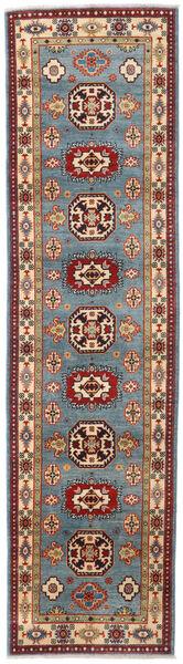 Kazak Teppe 81X309 Ekte Orientalsk Håndknyttet Teppeløpere Mørk Rød/Blå (Ull, Afghanistan)