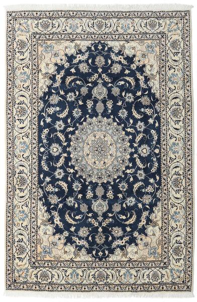 Nain Teppe 196X296 Ekte Orientalsk Håndknyttet Mørk Blå/Lys Grå (Ull, Persia/Iran)