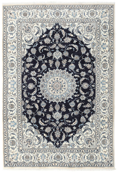 Nain Teppe 196X290 Ekte Orientalsk Håndknyttet Lys Grå/Mørk Lilla (Ull, Persia/Iran)