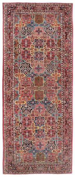 Sarough Teppe 200X470 Ekte Orientalsk Håndknyttet Teppeløpere Mørk Rød/Mørk Brun (Ull, Persia/Iran)