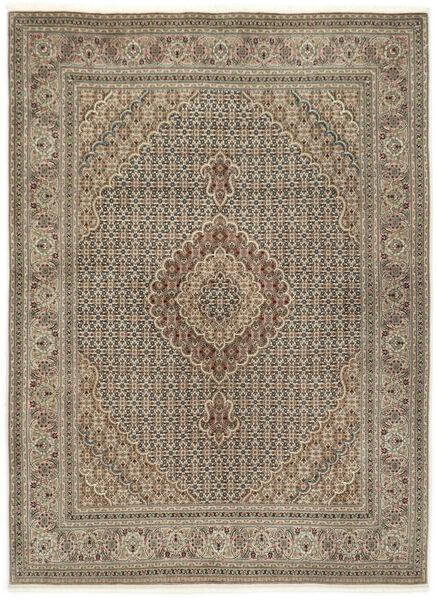 Tabriz 50 Raj Med Silke Teppe 155X210 Ekte Orientalsk Håndknyttet Lys Grå/Lysbrun (Ull/Silke, Persia/Iran)