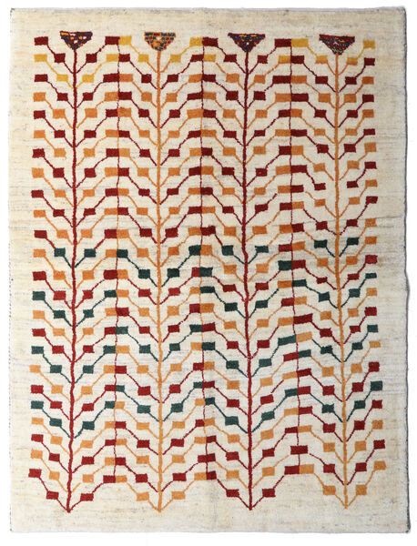 Gabbeh Persia Teppe 151X198 Ekte Moderne Håndknyttet Beige/Lys Grå (Ull, Persia/Iran)