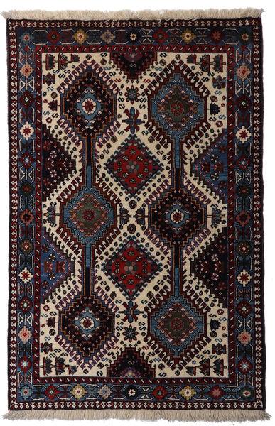 Yalameh Teppe 80X126 Ekte Orientalsk Håndknyttet Mørk Rød/Lys Grå (Ull, Persia/Iran)