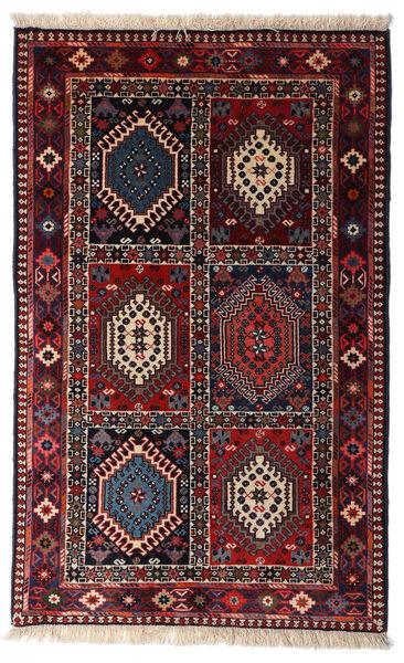 Yalameh Teppe 80X130 Ekte Orientalsk Håndknyttet Mørk Rød (Ull, Persia/Iran)