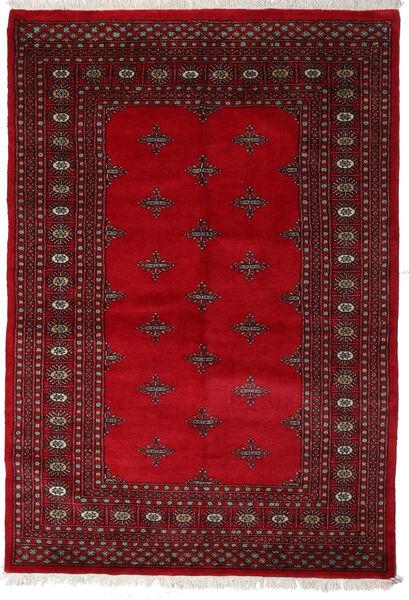 Pakistan Bokhara 3Ply Teppe 143X207 Ekte Orientalsk Håndknyttet Rød/Mørk Rød (Ull, Pakistan)
