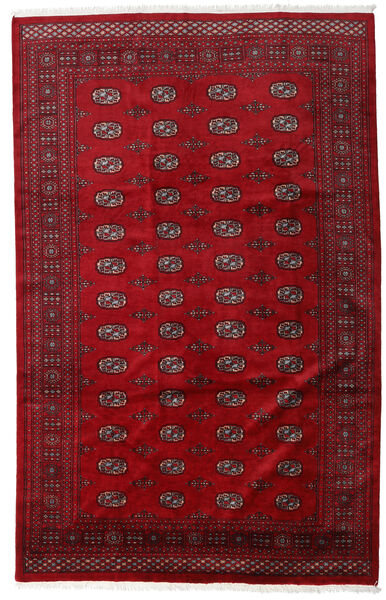 Pakistan Bokhara 3Ply Teppe 201X316 Ekte Orientalsk Håndknyttet Rød/Mørk Rød (Ull, Pakistan)