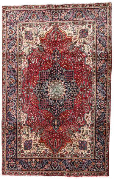 Tabriz Teppe 190X295 Ekte Orientalsk Håndknyttet Mørk Rød/Mørk Brun (Ull, Persia/Iran)