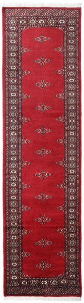 Pakistan Bokhara 2Ply Teppe 78X288 Ekte Orientalsk Håndknyttet Teppeløpere Mørk Rød/Rød (Ull, Pakistan)