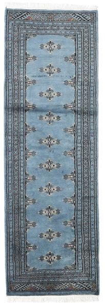 Pakistan Bokhara 2Ply Teppe 62X189 Ekte Orientalsk Håndknyttet Teppeløpere Blå/Lys Blå (Ull, Pakistan)