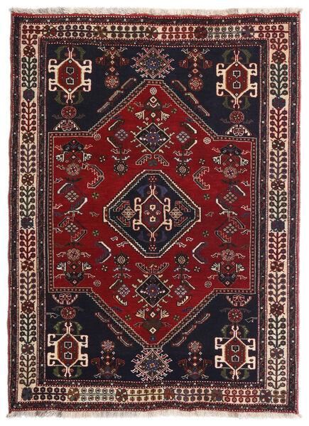 Ghashghai Teppe 105X144 Ekte Orientalsk Håndknyttet Mørk Rød/Brun (Ull, Persia/Iran)