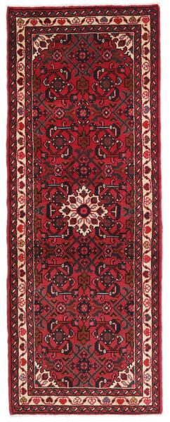 Hamadan Teppe 70X190 Ekte Orientalsk Håndknyttet Teppeløpere Mørk Rød/Mørk Brun (Ull, Persia/Iran)