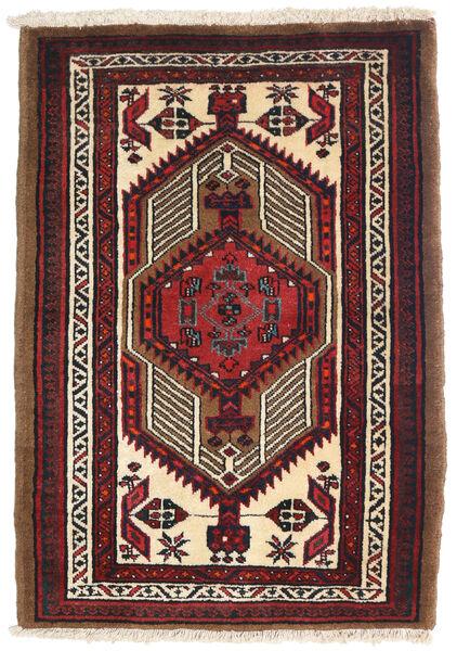 Heriz Teppe 75X105 Ekte Orientalsk Håndknyttet Mørk Rød/Mørk Brun (Ull, Persia/Iran)
