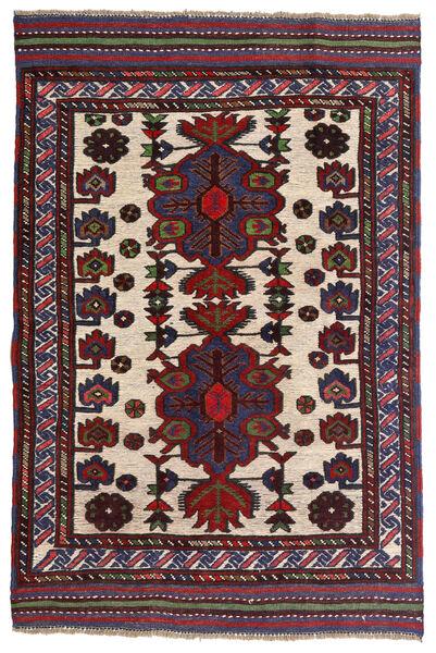 Kelim Golbarjasta Teppe 90X135 Ekte Orientalsk Håndvevd Mørk Rød/Mørk Lilla (Ull, Afghanistan)