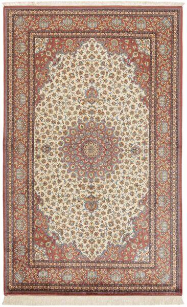 Ghom Silke Teppe 158X250 Ekte Orientalsk Håndknyttet Mørk Rød/Brun (Silke, Persia/Iran)
